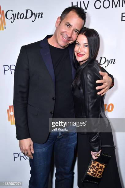 Tony Drockton and guest attend CytoDyn's Pro 140 Awareness Event for HIV and Cancer Prevention at The Roosevelt Hotel in Hollywood on February 28...