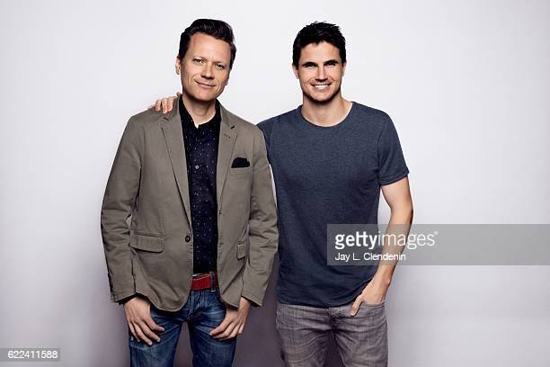 Tony Elliott and Robbie Amell of the movie 'ARQ' pose for a portraits at the Toronto International Film Festival for Los Angeles Times on September...