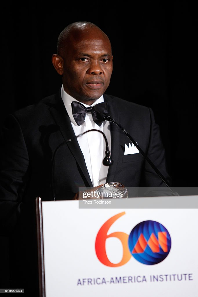 Tony Elumelu speaks during the Africa-America Institute 60th Anniversary Awards Gala at New York Hilton on September 25, 2013 in New York City.