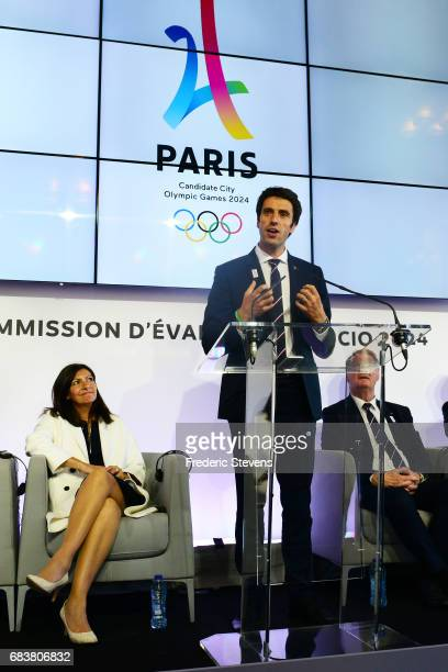 Tony Estanguet cochairman of the Paris 2024 Organising Committee during the final press conference on the International Olympic Committee Evaluation...