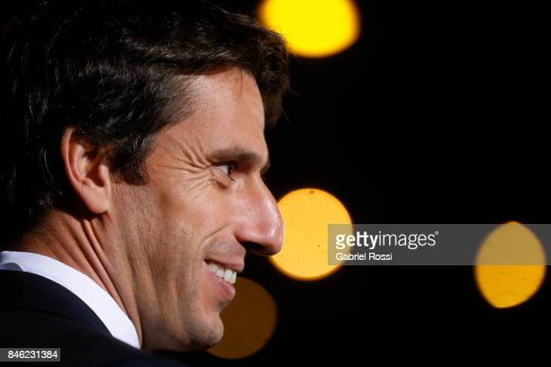 Tony Estanguet IOC member CoChairman Paris 2024 and former Olympic athlete looks on during the red carpet prior to the Opening Ceremony of the IOC...
