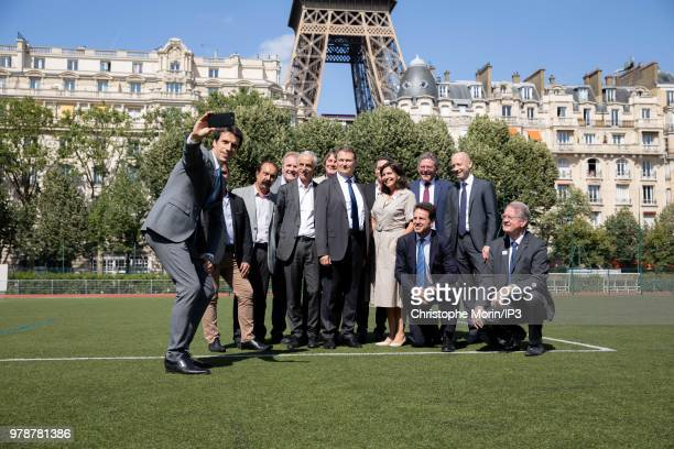 Tony Estanguet Paris Mayor Anne Hidalgo Honorary President of the Organizing Committee for the 2024 Olympic and Paralympic Summer Games Bernard...