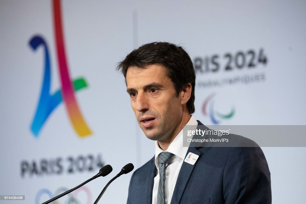 Tony Estanguet, President of Paris 2024 attends the signing of joint funding protocol for the Paris 2024 Olympic Games attends the ceremony of signing of joint funding protocol for the Paris 2024 Olympic Games and 2024 Paralympics games, at the Paris City Hall on June 14, 2018 in Paris, France. The collective work to optimise the Olympic and Paralympic project was carried out by the Paris 2024 Committee, the State, the local authorities and the various project owners.