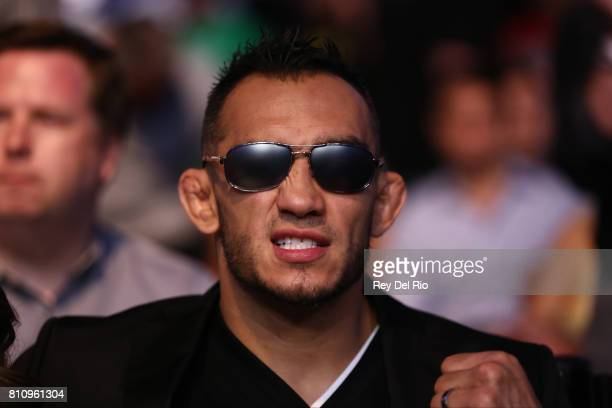 Tony Ferguson in the audience during the UFC 213 event at TMobile Arena on July 9 2017 in Las Vegas Nevada
