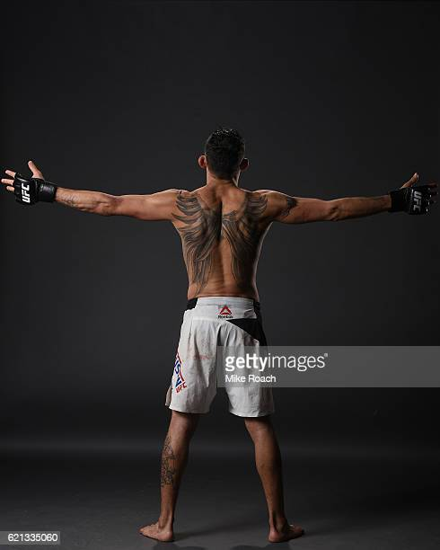 Tony Ferguson of the United States poses backstage for a post fight portrait during the UFC Fight Night event at Arena Ciudad de Mexico on November 5...