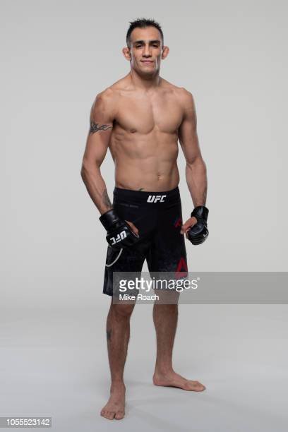 Tony Ferguson poses for a portrait during a UFC photo session on October 2 2018 in Las Vegas Nevada