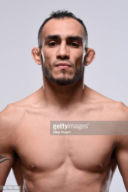 Tony Ferguson poses for a portrait during a UFC photo session on October 4 2017 in Las Vegas Nevada