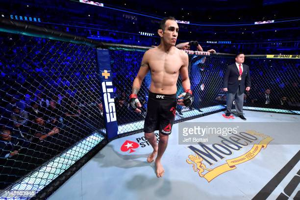 Tony Ferguson stands in his corner prior to his lightweight bout against Donald Cerrone during the UFC 238 event at the United Center on June 8 2019...