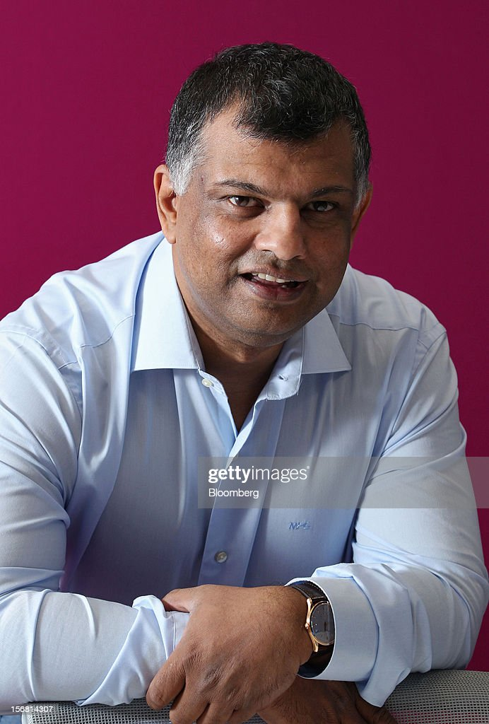 Tony Fernandes, chief executive officer of AirAsia Bhd., poses for a photograph in Kuala Lumpur, Malaysia, on Thursday, Nov. 22, 2012. AirAsia, the region's biggest discount carrier, said it may add only one more major hub for expansion as it focuses on boosting profits from Malaysia, Thailand and Indonesia in the next three years. Photographer: Goh Seng Chong/Bloomberg via Getty Images