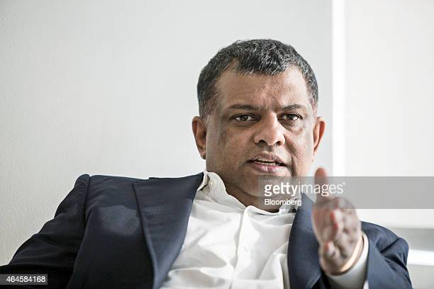 Tony Fernandes chief executive officer of AirAsia Bhd speaks during an interview in Kuala Lumpur Malaysia on Friday Feb 27 2015 AirAsia has good...