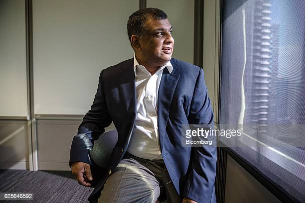 Tony Fernandes group chief executive officer of AirAsia Bhd poses for a photograph ahead of a Bloomberg Television interview in Kuala Lumpur Malaysia...
