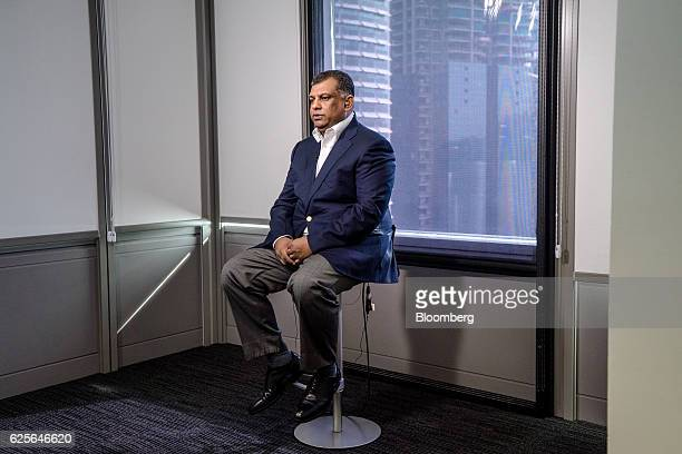 Tony Fernandes group chief executive officer of AirAsia Bhd speaks during a Bloomberg Television interview in Kuala Lumpur Malaysia on Friday Nov 25...