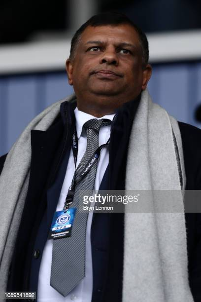 Tony Fernandes Owner of QPR looks on prior to the FA Cup Fourth Round match between Portsmouth and Queens Park Rangers at Fratton Park on January 26...