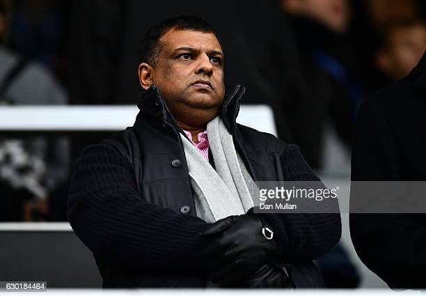 Tony Fernandes Owner of Queens Park Rnagers looks on during the Sky Bet Championship match between Queens Park Rangers and Aston Villa at Loftus Road...