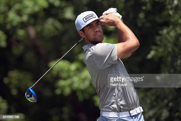 Tony Finau plays his shot from the sixth tee during the Third Round of the DEAN DELUCA Invitational at Colonial Country Club on May 28 2016 in Fort...