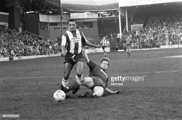 Tony Ford of West Bromwich Albion in action against Oldham Athletic 3rd February 1990