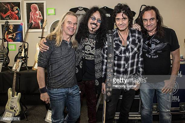 Tony Franklin Frankie Banali Phil Soussan and Vinny Appice attend the Rock 'N' Roll Fantasy Camp at Amp Rehearsal on November 6 2015 in North...