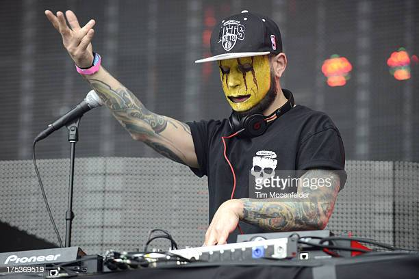 Tony Friend of Modestep performs as part of Lollapalooza 2013 at Grant Park on August 2 2013 in Chicago Illinois