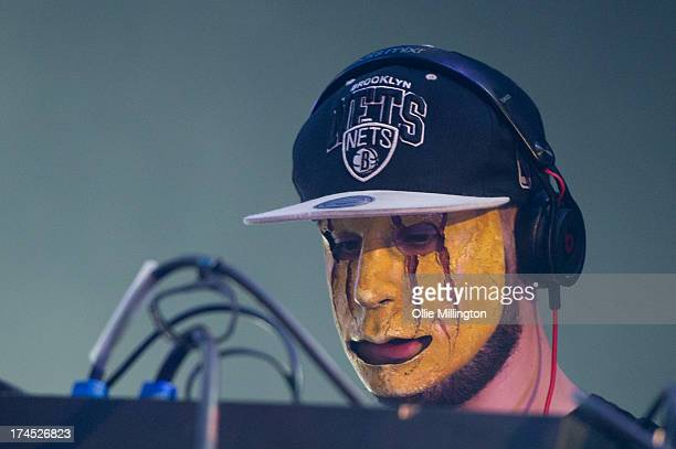 Tony Friend of Modestep performs on stage on Day 1 of Global Gathering 2013 on July 26 2013 in StratforduponAvon England