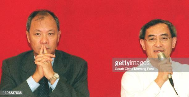 Tony Fung Wingcheung and Peter Fung Yiufai of Yu Ming Investment holding a meeting to detail the company's hostile takeover bid over China Motor Bus...
