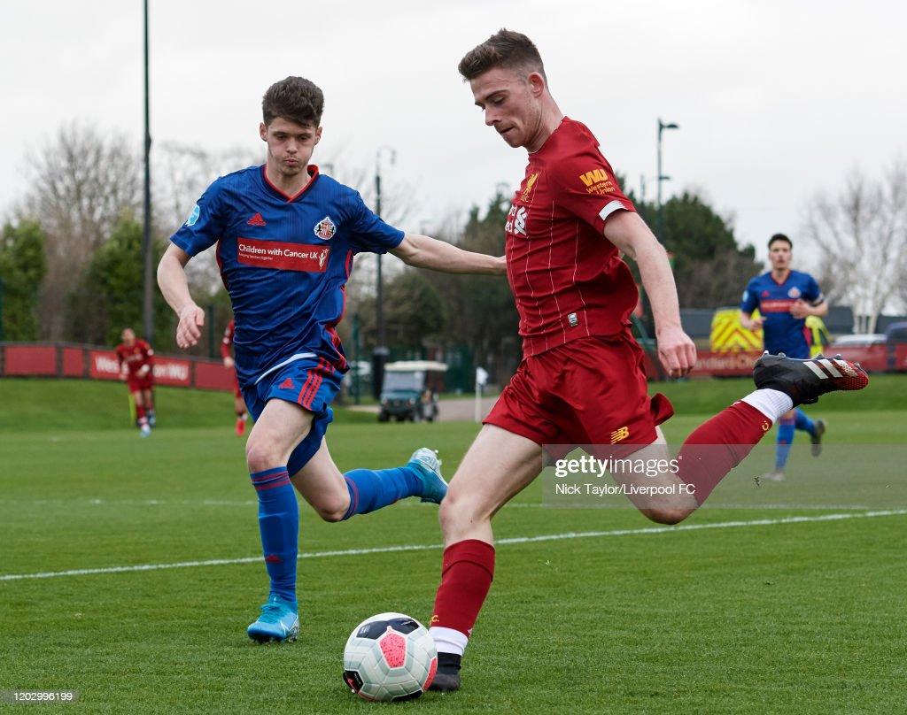 Liverpool U23 v Sunderland U23 - Premier League Cup : News Photo