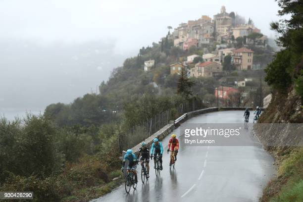 Tony Gallopin of France and AG2R La Mondiale Jakob Fuglsang of Denmark and Astana Pro Team David De La Cruz of Spain and Team Sky Omar Fraile...
