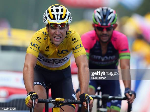 Tony Gallopin of France and Lotto-Belisol conceded the yellow jersey afterstage ten of the 2014 Tour de France, a 162km stage between Mulhouse and La...