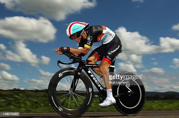 Tony Gallopin of France and Radioshack-Nissan in action during stage nine of the 2012 Tour de France, a 41.5km individual time trial, from...