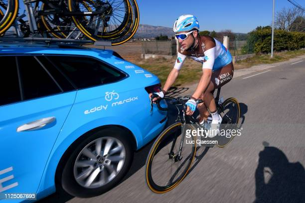 Tony Gallopin of France and Team AG2R La Mondiale / Car / during the 4th Tour de La Provence 2019 Stage 2 a 1956km race from Istres to La Ciotat...
