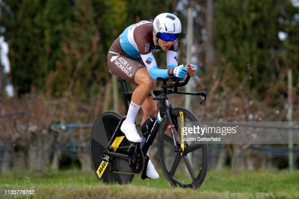 Tony Gallopin of France and Team AG2R La Mondiale / during the 77th Paris - Nice 2019, Stage 5 a 25,5km Individual Time Trial stage from Barbentane...