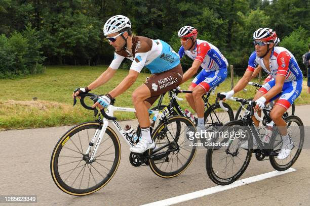 Tony Gallopin of France and Team Ag2R La Mondiale / Matthieu Ladagnous of France and Team Groupama - FDJ / Thibaut Pinot of France and Team Groupama...