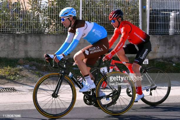 Tony Gallopin of France and Team AG2R La Mondiale / Nicholas Roche of Ireland and Team Sunweb / during the 4th Tour de La Provence 2019 Stage 2 a...