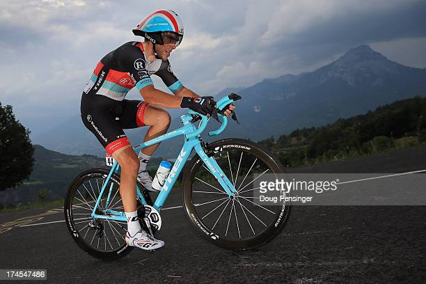 Tony Gallopin of France riding for Radioshack-Leopard competes during stage seventeen of the 2013 Tour de France, a 32KM Individual Time Trial from...