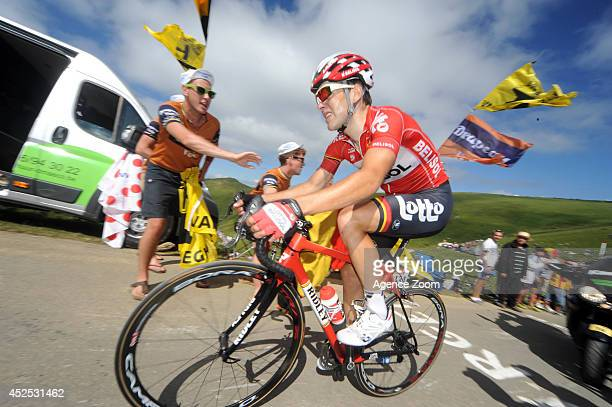 Tony Gallopin of Team LottoBelisol during Stage 16 of the Tour de France on July 22 2014 in BagneresdeLuchon France