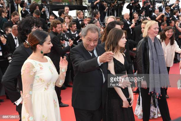 Tony Gatlif actress Daphne Patakia and team attend the'Twin Peaks' screening during the 70th annual Cannes Film Festival at Palais des Festivals on...
