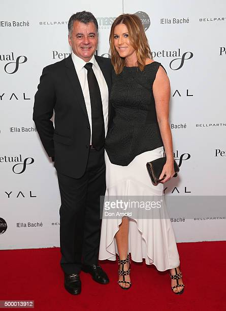 Tony Gillies and Kylie Gillies arrive ahead of the LOYAL Foundation 'Last Charge' Gala Dinner at Four Seasons Hotel on December 5 2015 in Sydney...