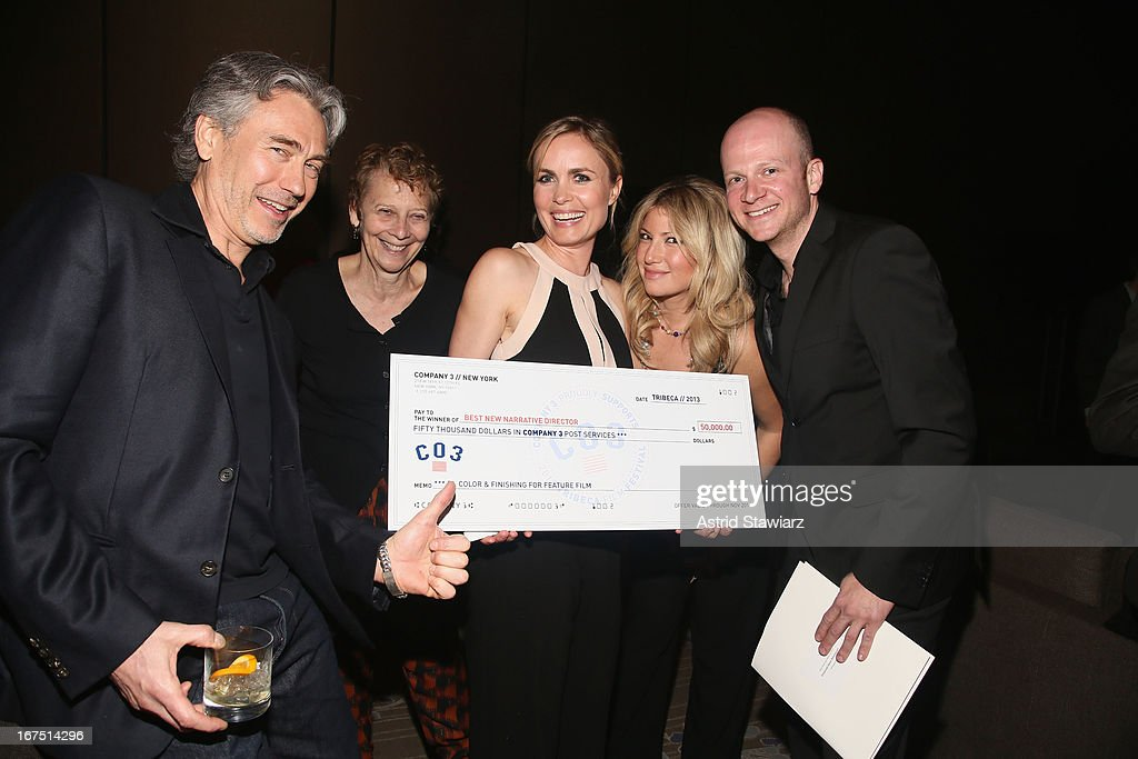 Tony Gilroy, Naomi Foner, Radha Mitchell, Ari Graynor and Emanuel Hoss-Desmarais attend the TFF Awards Night during the 2013 Tribeca Film Festival on April 25, 2013 in New York City.
