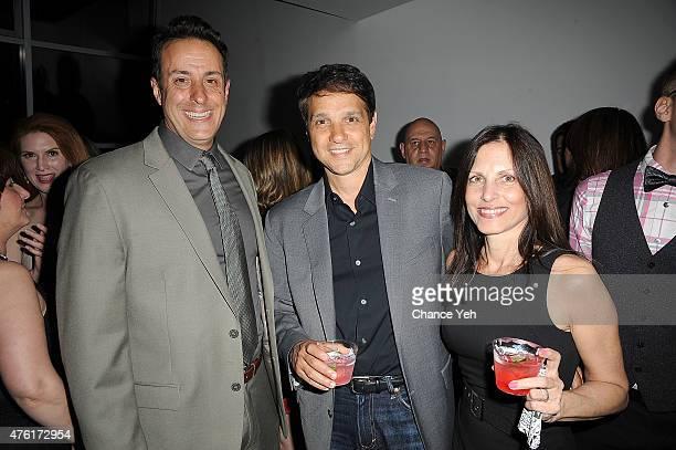 Tony Glazer Ralph Macchio and Phyllis Fierro Macchio attend Lost Cat Corona wrap party at Highlight Studios on June 6 2015 in New York City