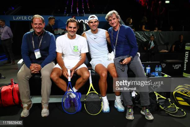 Tony Godsick, agent of Roger Federer and President and CEO of TEAM8 and Chairman of the Laver Cup, Roger Federer, Rafael Nadal and Carlos Costa,...