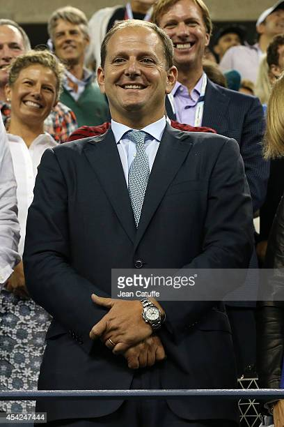 Tony Godsick attends Roger Federer's match on Day 2 of the 2014 US Open at USTA Billie Jean King National Tennis Center on August 26, 2014 in the...
