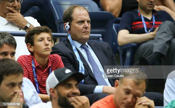 Tony Godsick attends the men's semifinals on day 12 of the 2018 tennis US Open on Arthur Ashe stadium at the USTA Billie Jean King National Tennis...