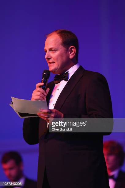Tony Godsick of Team 8 makes a speach during the Laver Cup Gala at the Navy Pier Ballroom on September 20, 2018 in Chicago, Illinois.The Laver Cup...