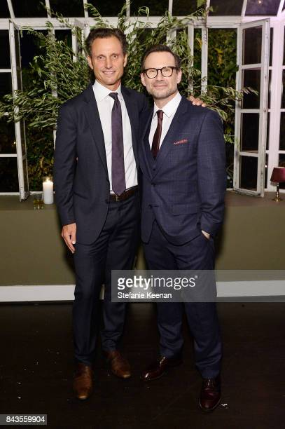 Tony Goldwyn and Christian Slater attend Esquire Celebrates September Issue's 'Mavericks of Style' Presented by Hugo Boss at Chateau Marmont on...