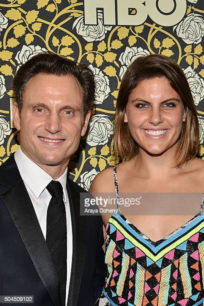 Tony Goldwyn and Jane Musky attend HBO's post 2016 Golden Globe Awards party at Circa 55 Restaurant on January 10 2016 in Los Angeles California