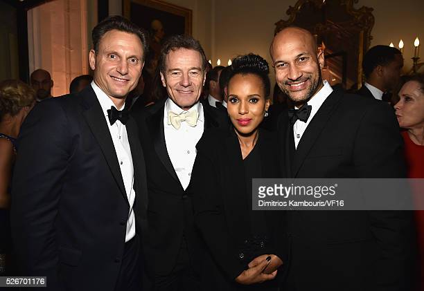 Tony Goldwyn Bryan Cranston Kerry Washington and KeeganMichael Key attend the Bloomberg Vanity Fair cocktail reception following the 2015 WHCA Dinner...