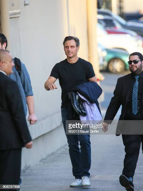 Tony Goldwyn is seen arriving at 'Jimmy Kimmel Live' on January 17 2018 in Los Angeles California