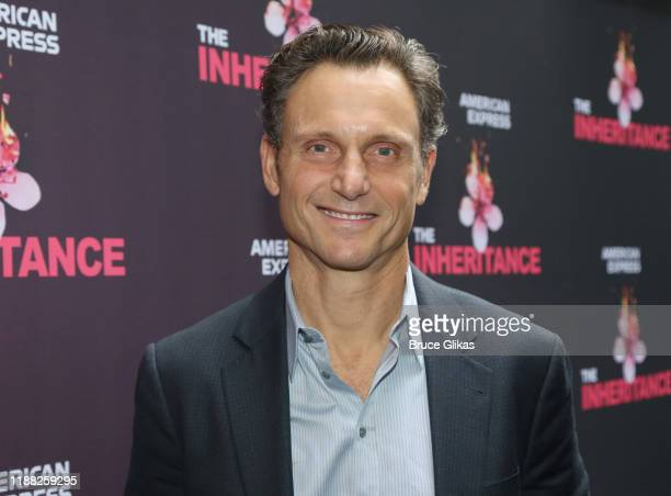 Tony Goldwyn poses at the opening night of the new Matthew Lopez play The Inheritance on Broadway at The Barrymore Theatre on November 17 2019 in New...