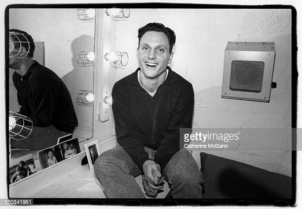 Tony Goldwyn poses for a portrait backstage in his dressing room of the Broadway play 'Holiday' in November 1995 in New York City New York