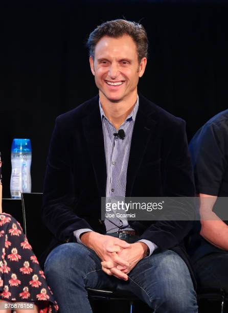 Tony Goldwyn speaks onstage during SCANDAL THE FINAL SEASON panel at Vulture Festival LA Presented by ATT at Hollywood Roosevelt Hotel on November 18...