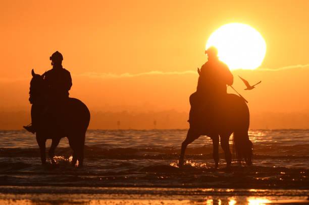 AUS: Cox Plate Horses Altona Beach Session